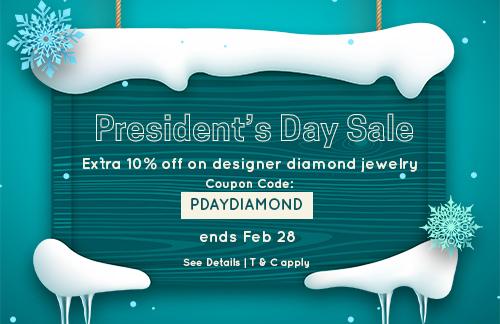 President's Day Sale on Diamond Jewelry