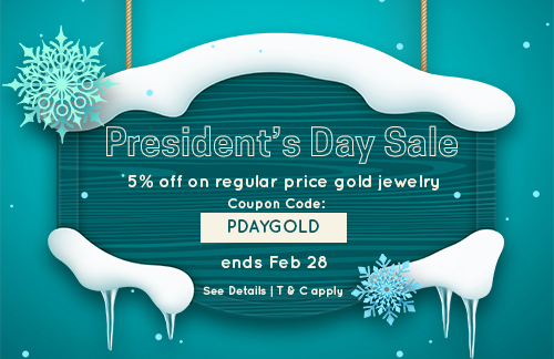 President's Day Sale on Gold Jewelry