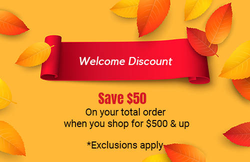 welcome discount $50 off