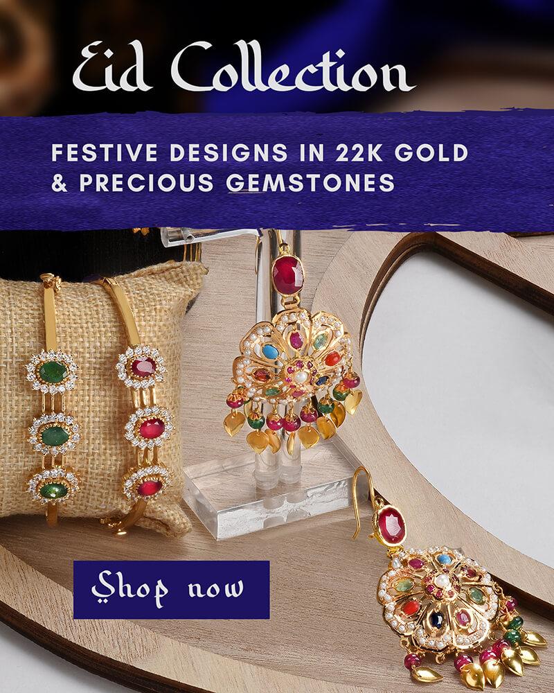 22k gold & gemstones Eid jewelry collection
