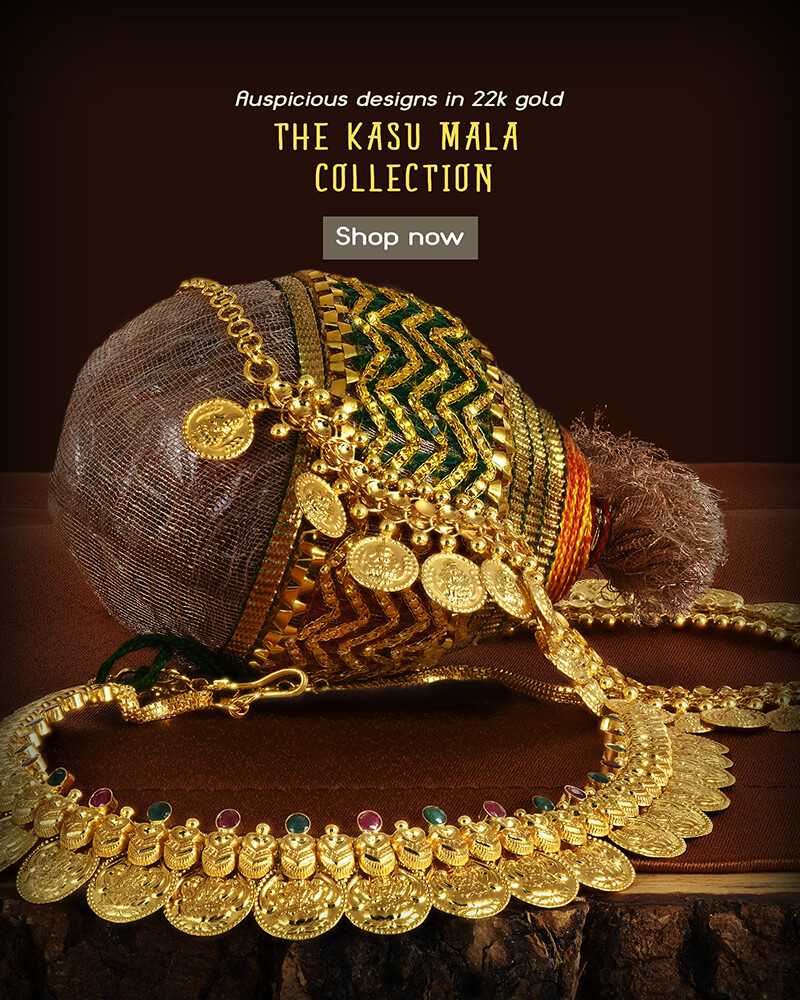22k gold kasu mala necklace collection