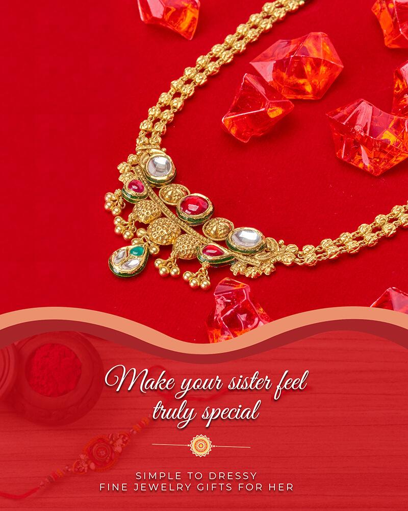 22k gold rakhi gifts for her