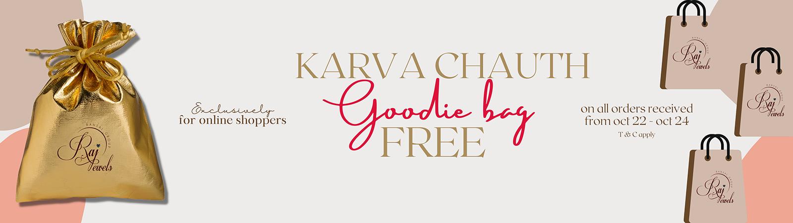 Free goodie bag when you shop online at rajjewels.com