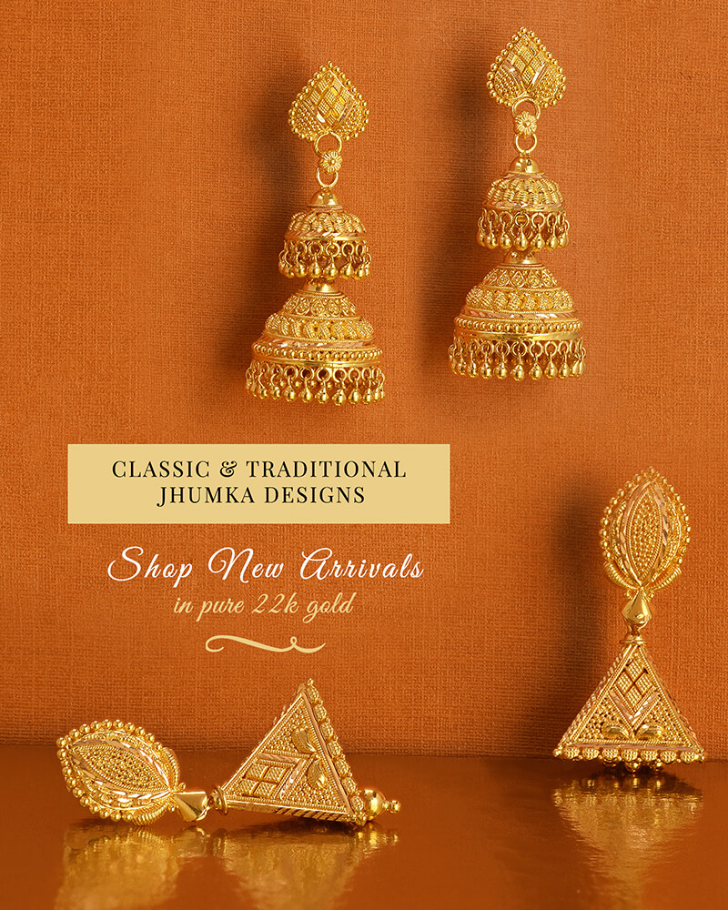 22k Gold Jhumka Designs