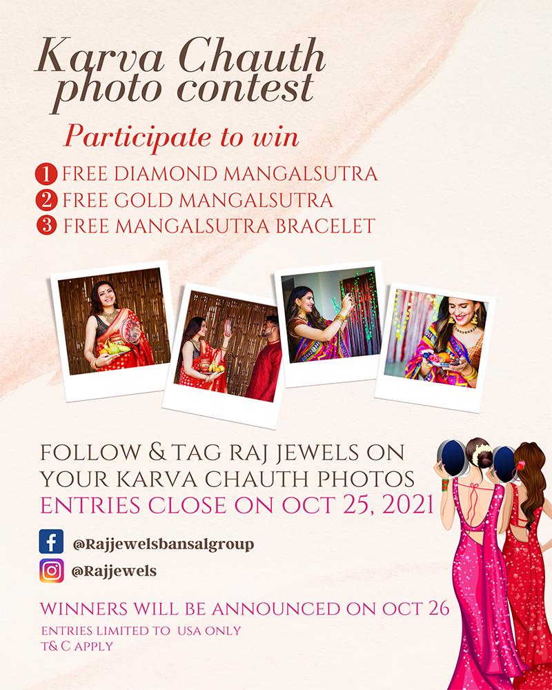 karva chauth contest at raj jewels nj