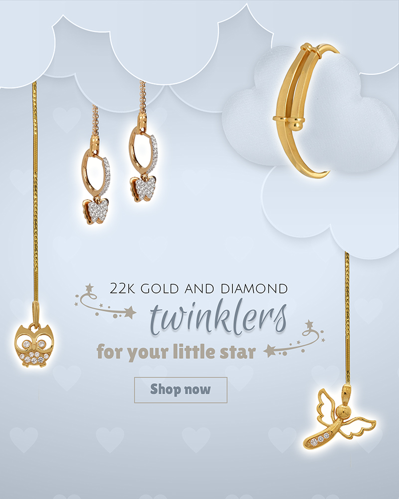 22k gold & diamond jewelry designs for babies & kids