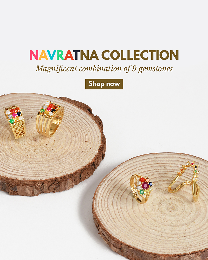 Navratna gemstones ring designs for him & her