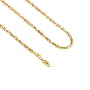 22k Gold Square Spider Fox Chain - 24