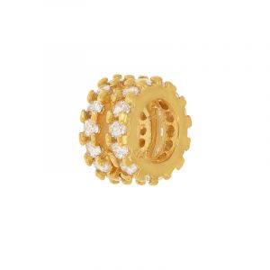22k Gold Cz Barrel Pendant
