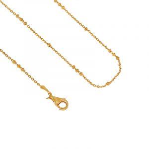 22k Gold Slim Ball Chain - 15.5