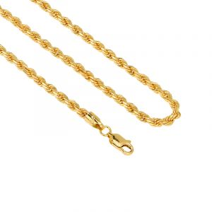 22k Gold Rope Gold Chain - 22