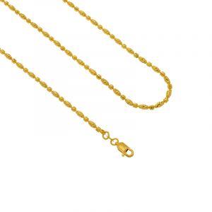 22k Gold Beads Balls Chain- 18