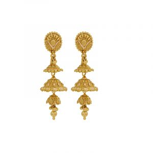 3-step Gold Jhumkis