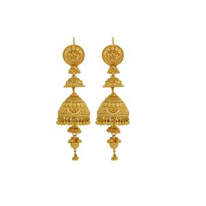 22k Gold Layered Jhumki Drops