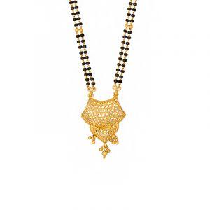 22k Gold Filigree Dangle Pendant Mangalsutra