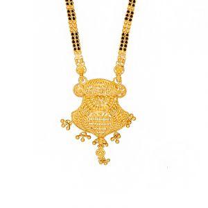 22k Gold Long Filigree Slip-on Mangalsutra