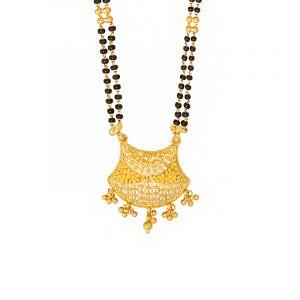 22k Gold Ghungroo Dangles Filigree Mangalsutra