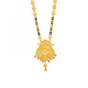 22k Gold Long Filigree Dangles Mangalsutra