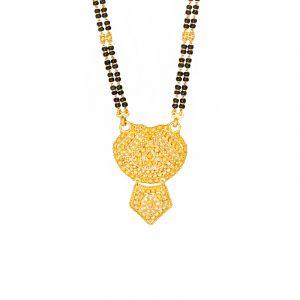 22k Gold Traditional Filigree Pendant Mangalsutra