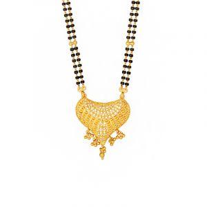 22k Gold Drop Pendant Ethnic Mangalsutra