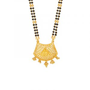 22k Gold Alankar Filigree Gold Mangalsutra