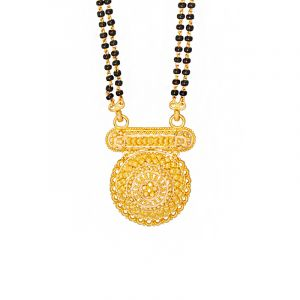 22k Gold Elegant Filigree Gold Mangalsutra