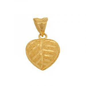 22k Gold Glitzy Heart Pendant