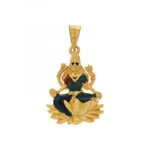 22k  Goddess Laxmi Gold Pendant