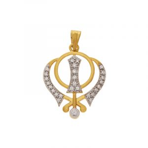 Khanda Gold Pendant