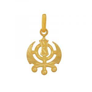 22k Gold Khanda Gold Pendant