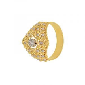 22k Gold Filigree Two-tone Ring