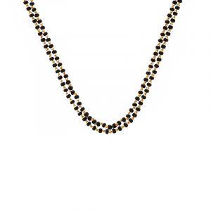 22k Gold Dual Black Beads Mangalsutra
