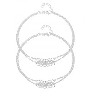 0.925 Silver Multi Links Silver Anklets