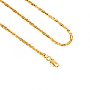 22k Gold Round Singapore Fox Chain- 26