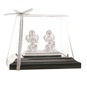 0.999 Silver Ganpati Lakshmi Silver Statue