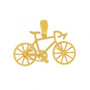22k Gold Tiny Bicycle Charm Pendant