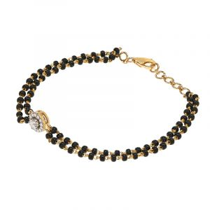 5 halo vvs diamond mangalsutra bracelet