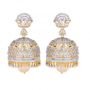 18k Diamond Anjika Diamond Jhumkas
