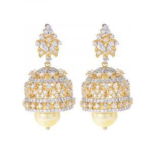 18k Diamond Devani Diamond Jhumkas