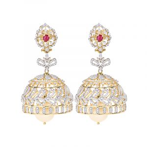 18k Diamond Sarasija Diamond Jhumkas