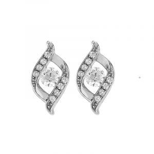 Swirly Design Diamond Studs