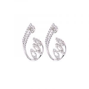 18k Diamond Majestic Diamond Stud Earrings