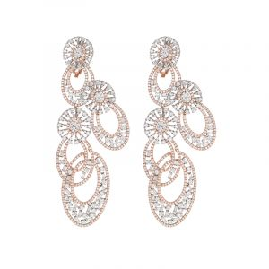 18k Diamond Large Cocktail Diamond Earrings