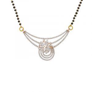 18k Diamond Spirale Diamond Mangalsutra