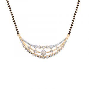 18k Diamond Sparkling Arch Diamond Mangalsutra