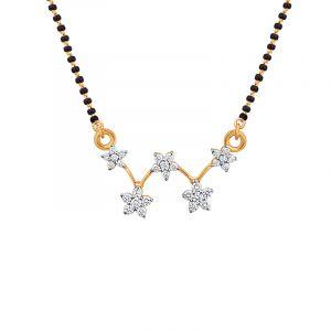 18k Diamond Floretts Diamond Mangalsutra