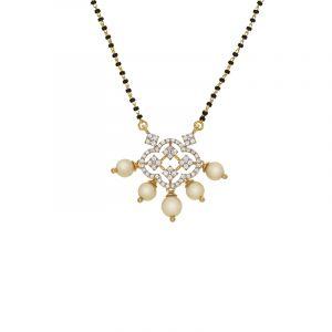 18k Diamond Luxe Pearl Diamond Mangalsutra