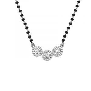 3-Halo Diamond Mangalsutra