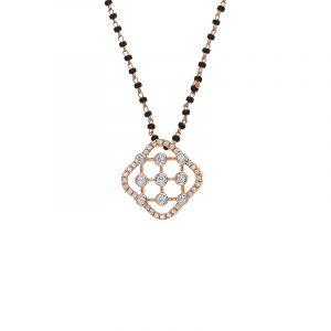 18k Diamond Maze Diamond Mangalsutra Necklace