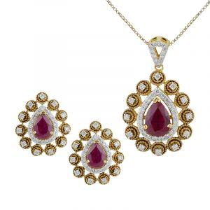 Anais Diamond Pendant Set